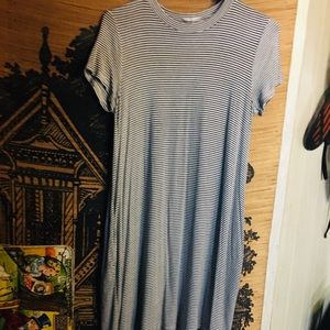 Urban Outfitters T shirt / trapeze dress stripe